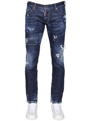 Dsquared 16.5Cm Clement Fit Ripped Denim Jeans