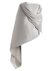 Issey Miyake Madame T Pleated Scarf Silver