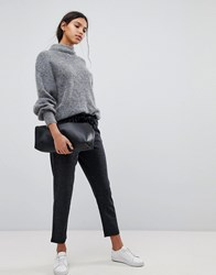 Selected Femme Relaxed Cropped Pants Grey