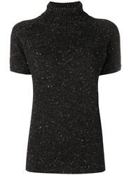Circolo 1901 Roll Neck Knitted Top Black