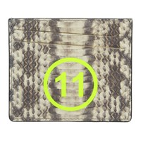 Maison Martin Margiela Grey And White Snake '11' Card Holder