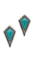 Jules Smith Designs Diamond Shape Stud Earrings Turquoise Gold