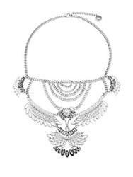 Bcbgeneration Bird Drama Necklace Silver
