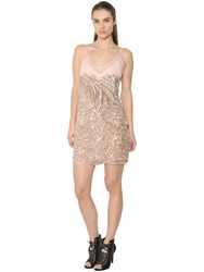 Roberto Cavalli Animalier Sequined Tulle And Lace Dress