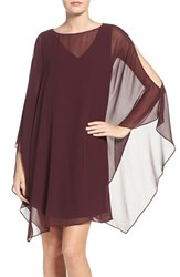 Chelsea 28 Women's Chelsea28 Sheer Cape Dress Burgundy Stem