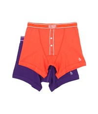 Original Penguin 2 Pack Earl Boxer Brief Red Clay Tillandsia Men's Underwear Multi