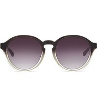 Kris Van Assche Kva79 Curved Keyhole Sunglasses Dark Grey And Silver