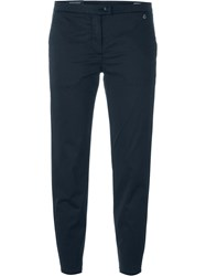 Woolrich Slim Fit Cropped Trousers Blue