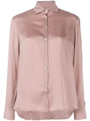 Barba Classic Fitted Shirt Pink And Purple