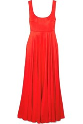 Solace London Naie Satin Jersey Maxi Dress Red