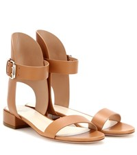 Francesco Russo Leather Sandals Brown
