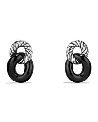 Drop Earrings With Black Onyx Silver David Yurman