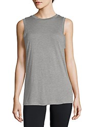 Getting Back To Square One Heathered Muscle Tank Top Silver