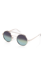 Forever 21 Mirrored Round Sunglasses Gold