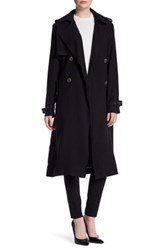 Vera Wang Chelsea Belted Trench Coat Black