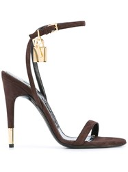 Tom Ford Ankle Strap Sandals Brown