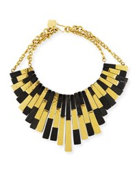 Ashley Pittman Kifalme Dark Horn And Bronze Bib Necklace Bronze
