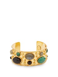 Sylvia Toledano Byzance Small Gold Plated Cuff Green