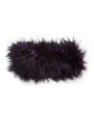 Adrienne Landau Fox Fur Headband Purple