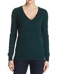 Bloomingdale's C By V Neck Cashmere Sweater 100 Exclusive Forest Green
