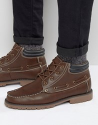 New Look Mocassin Boots In Brown Brown