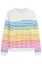 Mary Katrantzou Striped Cotton Pullover Stripes