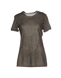 Athletic Vintage Topwear T Shirts Women Military Green