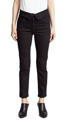 James Jeans Folie Twill Fold Over Flat Black