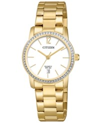 Citizen Women's Quartz Gold Tone Stainless Steel Bracelet Watch 27Mm Gold Tone