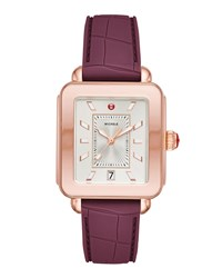 Michele Deco Sport Plum Watch W Silicone Strap Multi