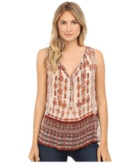 Lucky Brand Tribal Printed Blouse Natural Multi Women's Blouse
