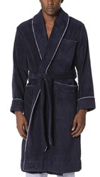 Sleepy Jones Terry Robe Navy