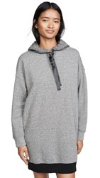 Atm Anthony Thomas Melillo French Terry Hoodie Dress Heather Charcoal