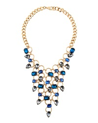 Fragments For Neiman Marcus Fragments Blue Crystal Bib Necklace