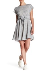 Rebecca Taylor Jersey Wrap Dress Gray