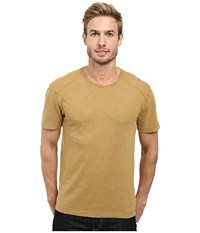 Agave Banner Short Sleeve 100 Cotton Slub Dijon Men's Short Sleeve Pullover Yellow