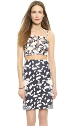 Opening Ceremony Painted Leaves Bustier Blush Pink Multi
