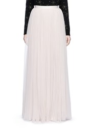 Needle And Thread Layered Tulle Maxi Skirt Neutral