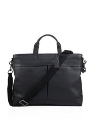 Coach Metropolitan Refined Pebble Leather Satchel Black