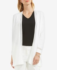 Vince Camuto Open Front Illusion Cardigan New Ivory