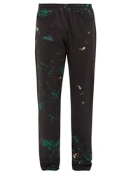 Cottweiler Cruise Abstract Print Technical Trousers Black Green