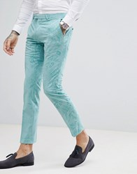 Noose And Monkey Super Skinny Suit Pants In Flocking Green