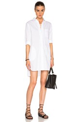 Thakoon Lace Up Shirt Dress In White