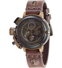 U Boat 8098 Chimera Net Leather Strap Watch Bronze