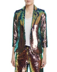 Libertine Sequined 3 4 Sleeve Jacket Pink Pattern