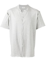 Maison Martin Margiela Button Front T Shirt Men Cotton 46 Grey