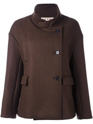 Marni Stand Up Collar Jacket Brown