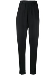 Ann Demeulemeester Tapered High Waisted Trousers Black