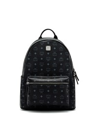 Mcm Stark No Stud Medium Backpack Black