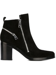 Kenzo Almond Toe Ankle Boots Black